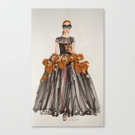 Fashion Illustration cat walk Canvas Print