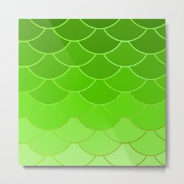 Lime Scales Metal Print