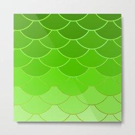 Lime Scales Metal Print