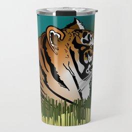 Alphabetic Animals: Tiger in the Field Travel Mug