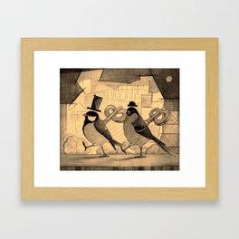 Mechanical birds. Framed Art Print