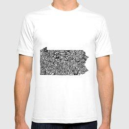 Typographic Pennsylvania T-shirt