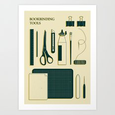 BOOKBINDING TOOLS Art Print