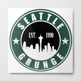 Seattle Grunge Metal Print