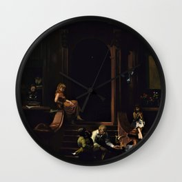 American Masterpiece 'Brownstone Front Stoop - New York' by Artist Unknown Wall Clock