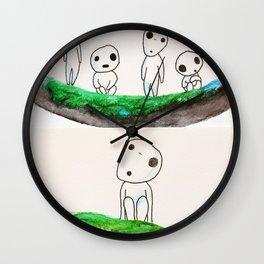 Watercolor Kodama from Princess Mononoke Wall Clock