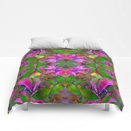 Floral Fractal Art G374 Comforters