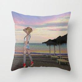 BEACH CHEEKY Throw Pillow
