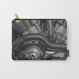 Bike Engine in Black and White Carry-All Pouch