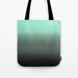 mint to black ombre Tote Bag