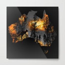 Pray for Australlia Metal Print