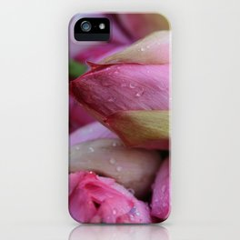 Big Closed Lotos Flower pink Photography iPhone Case