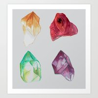 minerals Art Prints featuring Minerals (2) by MollyAlyce
