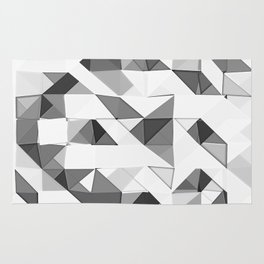 Triangular Deconstructionism Light Mono Rug