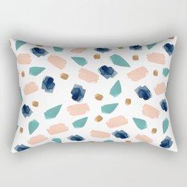 turquoise, navy, pink & gold Rectangular Pillow