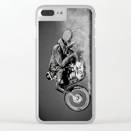 The Motorcycle Dust Devil Clear iPhone Case