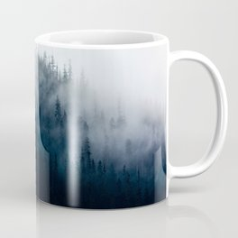 Misty Mountain Forest Foggy Moody Landscape Coffee Mug