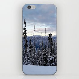Snowy spruces frontier iPhone Skin