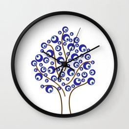 Evil Eye Tree Wall Clock