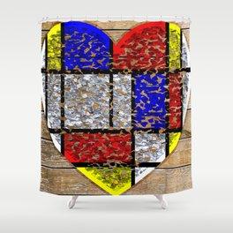 Flaky Heart Shower Curtain