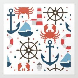 Sea white pattern Art Print