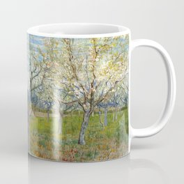 Orchard with Blossoming Apricot Trees by Vincent van Gogh Coffee Mug
