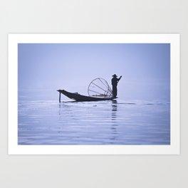 FISHERMAN AT INLE LAKE II Art Print