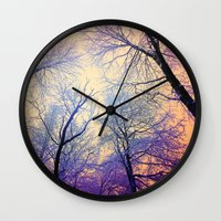 bebop Wall Clocks featuring Snow Angel's View - Nature's Painting (color 2) by soaring anchor designs