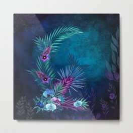 Night Falls on Blue Hawaii Metal Print