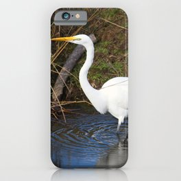 Just Right (Great Egret) iPhone Case
