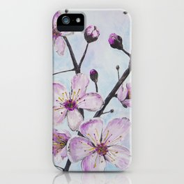 Cherry Blossoms I iPhone Case