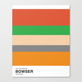 The Colors of Bowser Canvas Print