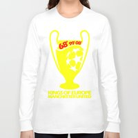 manchester Long Sleeve T-shirts featuring Champions League Manchester by Sport_Designs