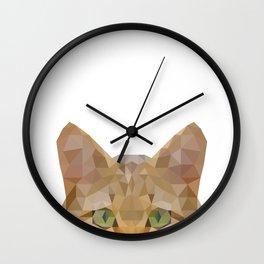 Wild Cat Wall Clock