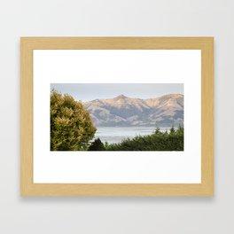 Hills of Akaroa Framed Art Print
