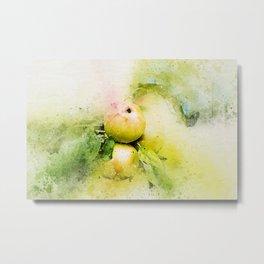 Apples watercolor Metal Print