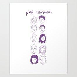 Faces of Parks & Rec Art Print