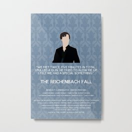 The Reichenbach Fall - Sherlock Holmes Metal Print