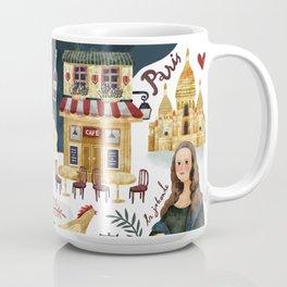 Paris map Coffee Mug