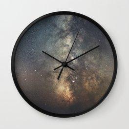 Portrait of a Galaxy Wall Clock
