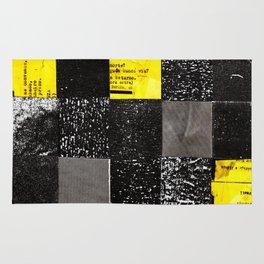 square collage Rug
