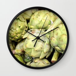 Artichokes | Green | Vegetables | Kitchen |Food Photography | Nadia Bonello Wall Clock