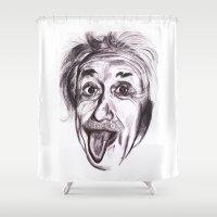 einstein Shower Curtains featuring Einstein by Alicia Evans