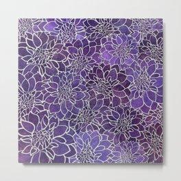 Dahlia Flower Pattern 3 Metal Print