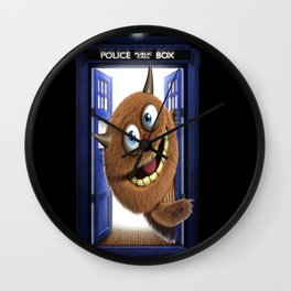 tardis dr who and monter  Wall Clock
