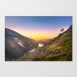 Sunrise at Glendalough valley Ireland Canvas Print
