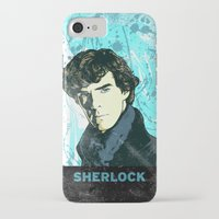sherlock holmes iPhone & iPod Cases featuring Sherlock Holmes by illustratemyphoto
