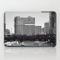 blackhawks iPad Cases featuring Chicago Blackhawks 2013 Championship Parade Route by Michael A. Hubatch