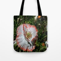 degas Tote Bags featuring Degas' poppy by Bee in Eden
