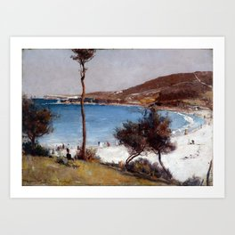 Tom Roberts Holiday Sketch at Coogee Art Print